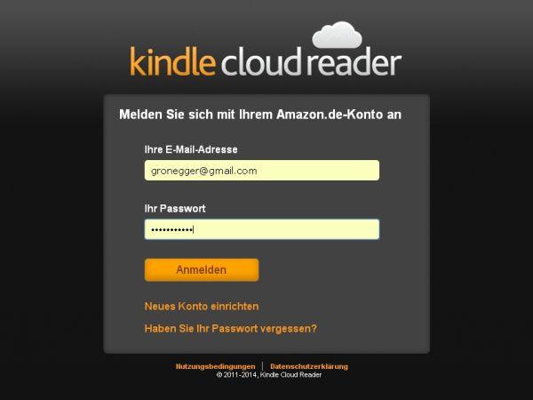 Kindle Cloud Reader - Login
